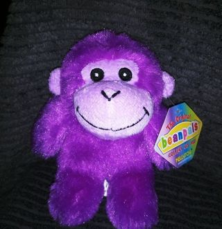 Purple beanie monkey