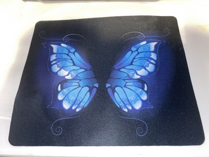 Pretty Blue Butterfly Designer Mouse Pad  new   fc1