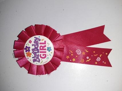 Birthday girl ribbon