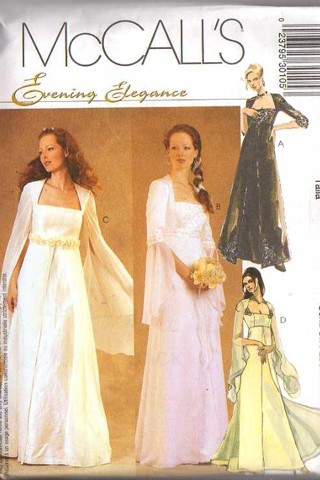 Free: McCall\'s 3010 Sewing Pattern Evening Elegance Medieval Empire ...
