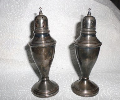 Beautiful Sterling Silver Salt and Pepper Shakers
