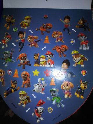 Paw patrol huge sticker sheet really nice quality! lowest gins around stop by and see! Selling out!