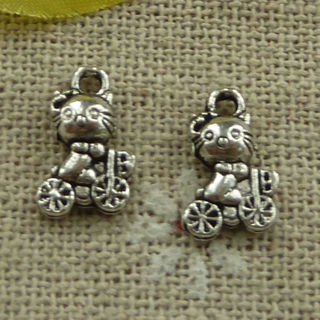 2 new Hello Kitty and bike silver charm + Free charm if you use get it now