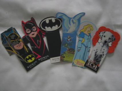 Bookmark lot Batman, Disney Dalmatians, Swan Princess great stocking stuffer