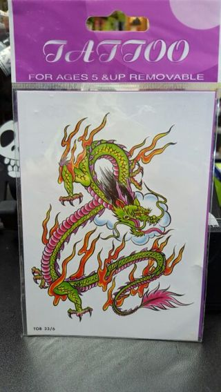 Temporary Tattoos Dragon (1)