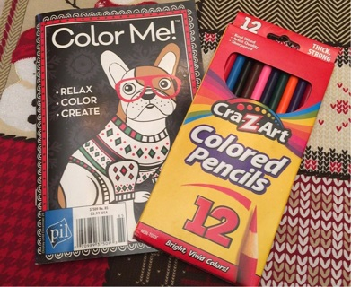 BN Adult coloring book with Colored pencils