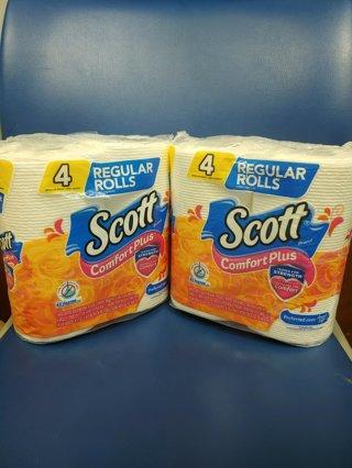 Brand New in package!!! 2 Packs of Scott 4pack Toilet Paper (Total 8 Rolls)