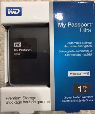 Western Digital My Passport Ultra 1 TB Portable External Hard Drive