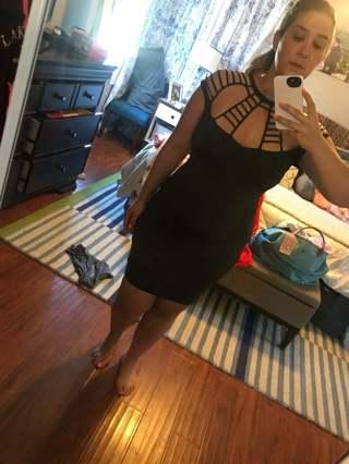 SASSY DRESS ZIP BACK M 8-10
