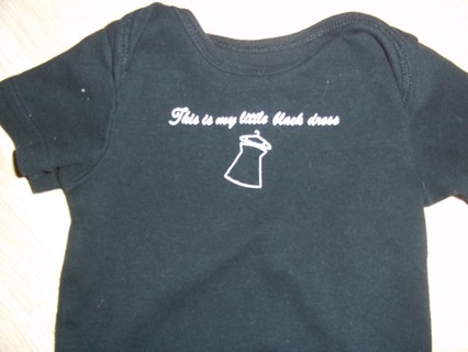 Free Baby Infant Girls Black Onesie Says This Is My Little Black