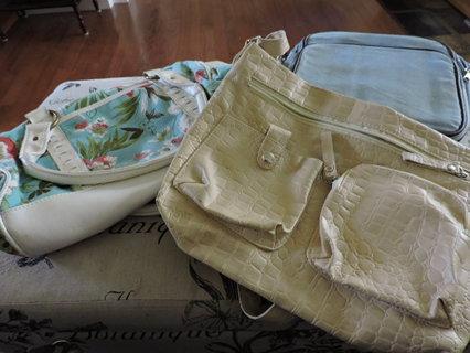 Set of 3 cute purses handbags