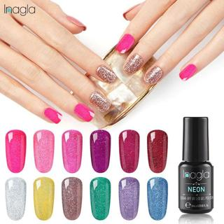 Inagla Gel 1 Nail Art Gel 8ML Neon Color UVLED Gel Nail Polish For Nail Extension Design Long-last