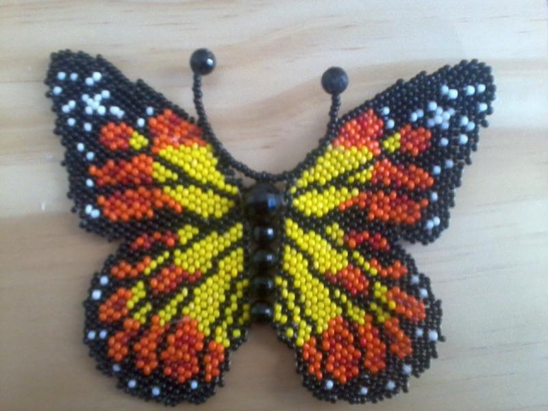 Free Brick Stitch Seed Bead Butterfly Kit Beading