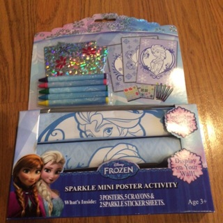 Brand new Disney Frozen sparkle mini poster activity
