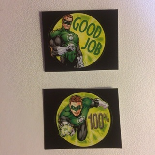 DC Comics Green Lantern Round Stickers ~ 2 TOTAL ~ NEW!