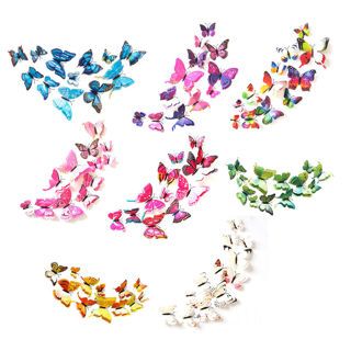 12pcs 3D PVC DIY Butterflies Butterfly Art Decal Home Decor Wall Mural Stickers