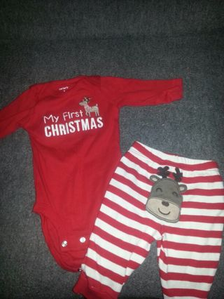 Carters My first Christmas outfit! - Free: Carters My First Christmas Outfit!! - Baby Clothes - Listia