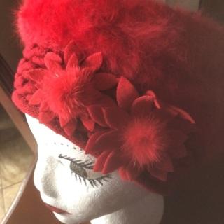 Fashion Accessories, Elegant Knitted Fur/Wool Beret/Beanie Hat.