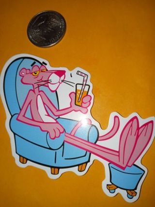 Pink Panther Cute alot big new vinyl lab top sticker no refunds regular mail only