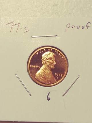 1977-S Proof Cameo Lincoln Penny! 611