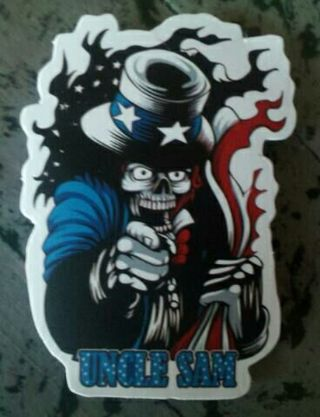 Cool Uncle Sam Skull Sticker - New : )