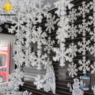 12Pcs New Classic White Snowflake Ornaments Christmas Holiday Party Home