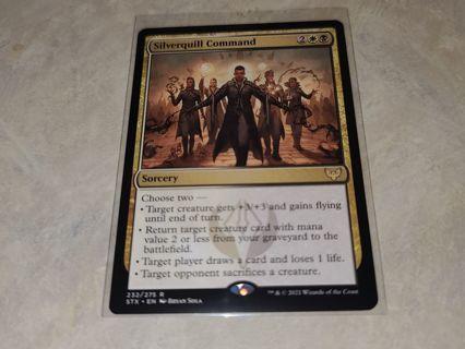 Magic the gathering mtg Silverquill Command rare Strixhaven