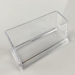 Business Card Holder Display Stand Acrylic Plastic Desk Shelf