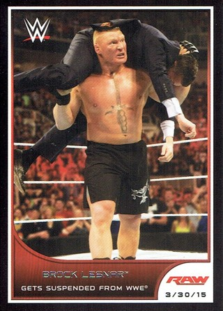 WWE WWF RAW 2016 Topps Collectible Wrestling Card Brock Lesnar #16