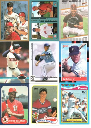 (9) Baseball Rookie Prospect Cards