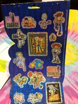 LARGE SHEET OF SPARKLY TOY STORY STICKERS