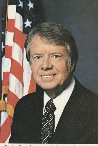 Vintage Unused Postcard: President Jimmy Carter, 39th President of the United States