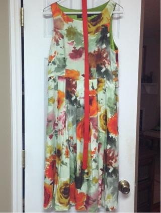 Lovely Floral Print Eva Franco Dress, Misses Size 8