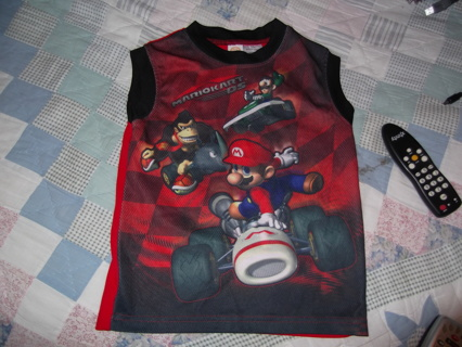 MARIO SHIRT FREE SHIPPING WITH GIN   SIZE 6/7 BOYS