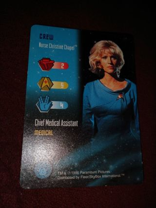Star trek card - Nurse Christine Chapel