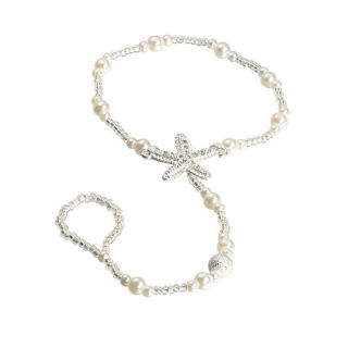 Pearl Barefoot Sandal Anklet Foot Chain x1