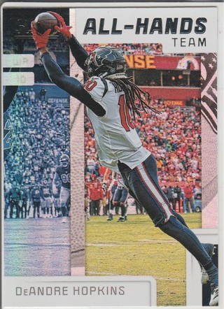 2019 SCORE DEANDRE HOPKINS ALL HANDS TEAM FOIL INSERT CARD