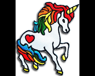 Lovely Unicorn Embroidered Cloth Iron On Patches