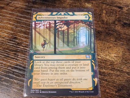 Magic the Gathering MTG Adventurous impulse card Strixhaven