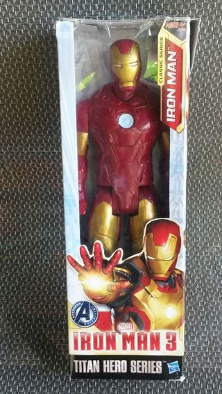 "IRON MAN 3 TITAN HERO SERIES Action Figure Marvel Avengers 12"" Toy"
