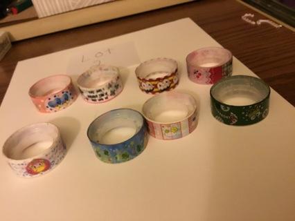 8 rolls of cute washi tape