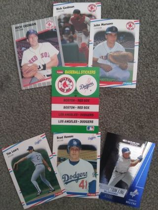 MLB Red Sox & Dodgers Lot of 7