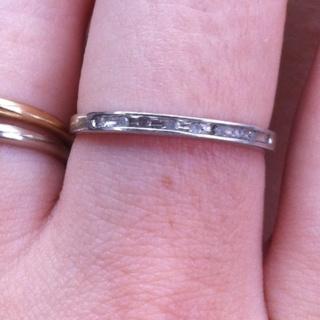 1/10 karat size 7 diamond ring .925 band