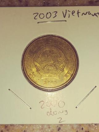 2003 Vietnamese 2000 Dong Coin! 280