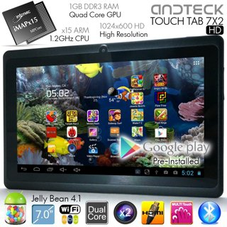"""TouchTab 7"""" X2 Dual Core Android 4.1 Tablet PC, HDMI, HD 1GB/4GB Camera"""