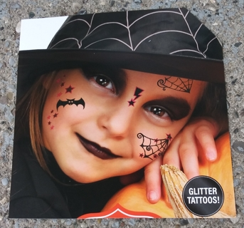 HALLOWEEN FACE TATTOOS 2 SHEETS LOT 16