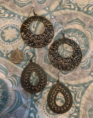 2 Pair of Earrings-quarter shown for size reference...