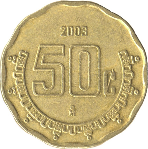 50 cent peso coin