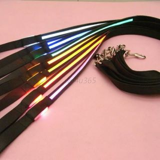 Pets Dogs LED Flashing Harness Nylon Safety Leash Rope Colors Belt Unisex Light