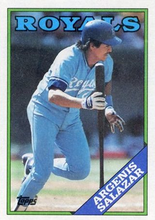 Free Classic Circa 1988 Topps Tiffany 29 Argenis Salazar